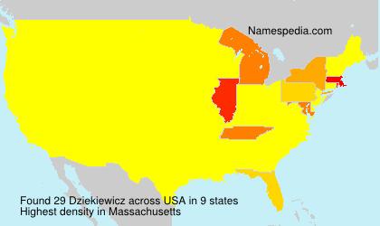 Surname Dziekiewicz in USA