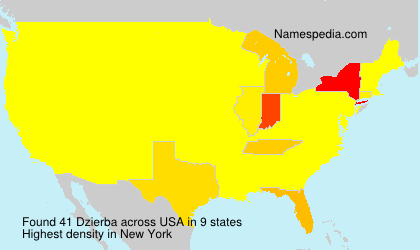 Surname Dzierba in USA