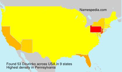 Surname Dzurinko in USA