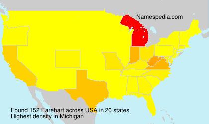 Familiennamen Earehart - USA