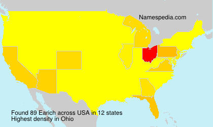 Surname Earich in USA