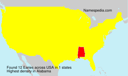 Surname Earies in USA