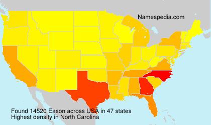 Surname Eason in USA