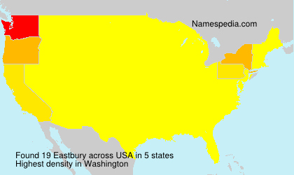 Surname Eastbury in USA