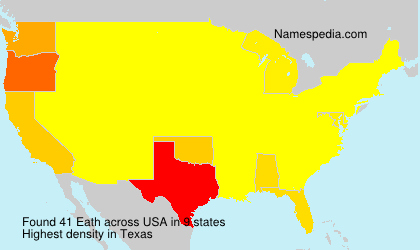 Surname Eath in USA