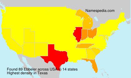 Familiennamen Ebbeler - USA