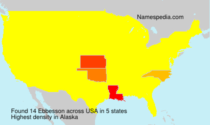 Surname Ebbesson in USA