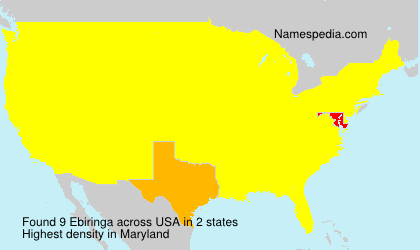 Surname Ebiringa in USA
