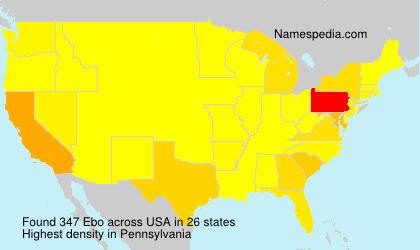 Surname Ebo in USA