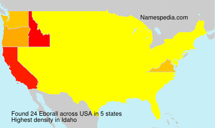 Surname Eborall in USA