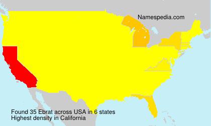 Surname Ebrat in USA