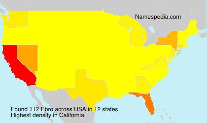 Surname Ebro in USA