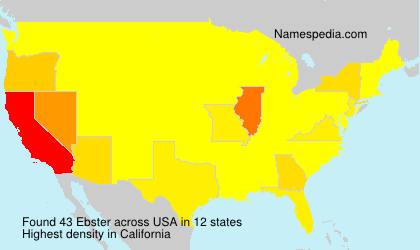Surname Ebster in USA
