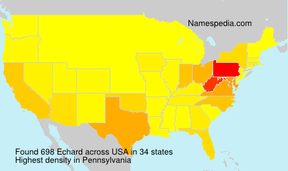 Surname Echard in USA