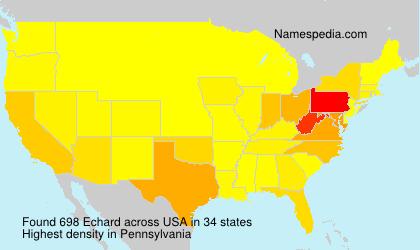 Surname Echard in USA