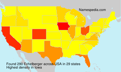 Surname Echelberger in USA