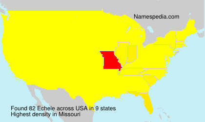 Surname Echele in USA