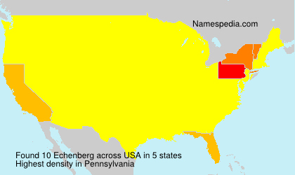 Surname Echenberg in USA