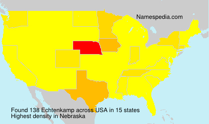 Surname Echtenkamp in USA