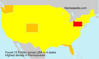 Surname Echtler in USA