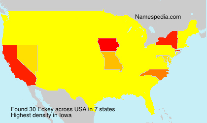 Surname Eckey in USA