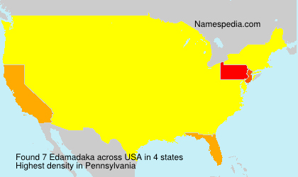 Surname Edamadaka in USA