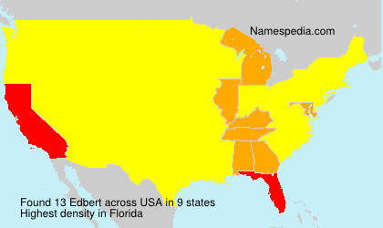 Surname Edbert in USA