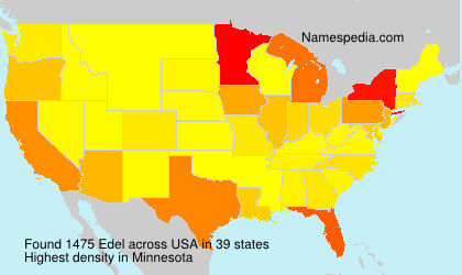 Surname Edel in USA