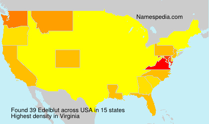 Surname Edelblut in USA