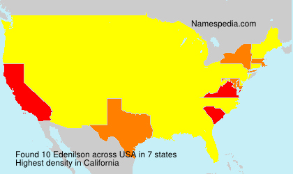 Surname Edenilson in USA