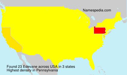 Surname Edevane in USA