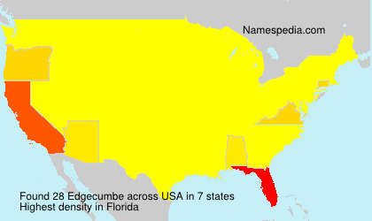 Surname Edgecumbe in USA