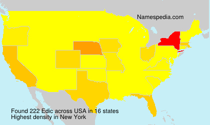 Surname Edic in USA