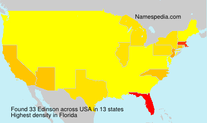 Surname Edinson in USA