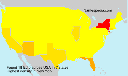 Surname Edip in USA