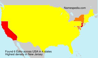 Surname Edito in USA