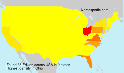 Surname Edixon in USA