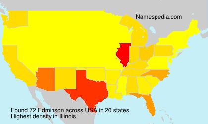 Surname Edminson in USA