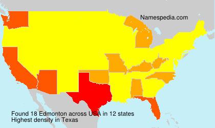 Surname Edmonton in USA