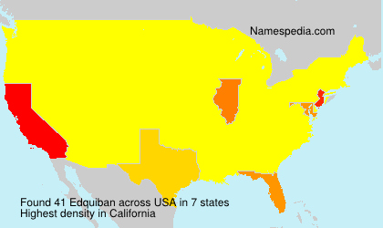 Surname Edquiban in USA
