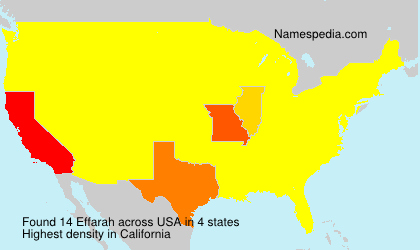 Surname Effarah in USA