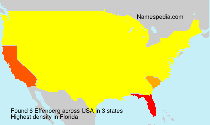Surname Effenberg in USA