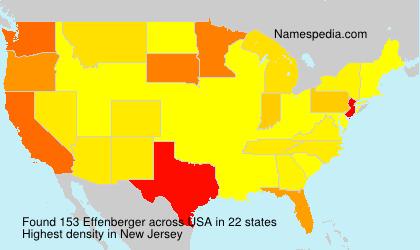 Familiennamen Effenberger - USA