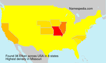 Familiennamen Efken - USA