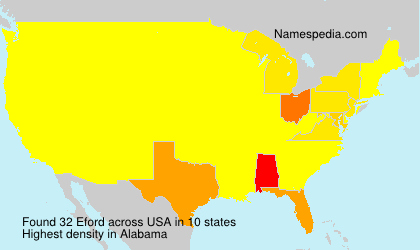 Surname Eford in USA
