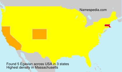 Familiennamen Egavian - USA