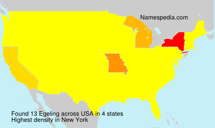 Surname Egeling in USA
