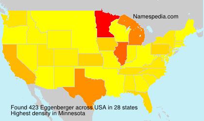 Surname Eggenberger in USA