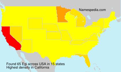 Surname Egi in USA