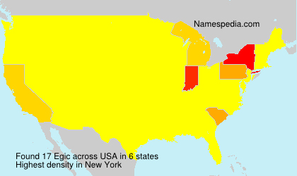 Surname Egic in USA